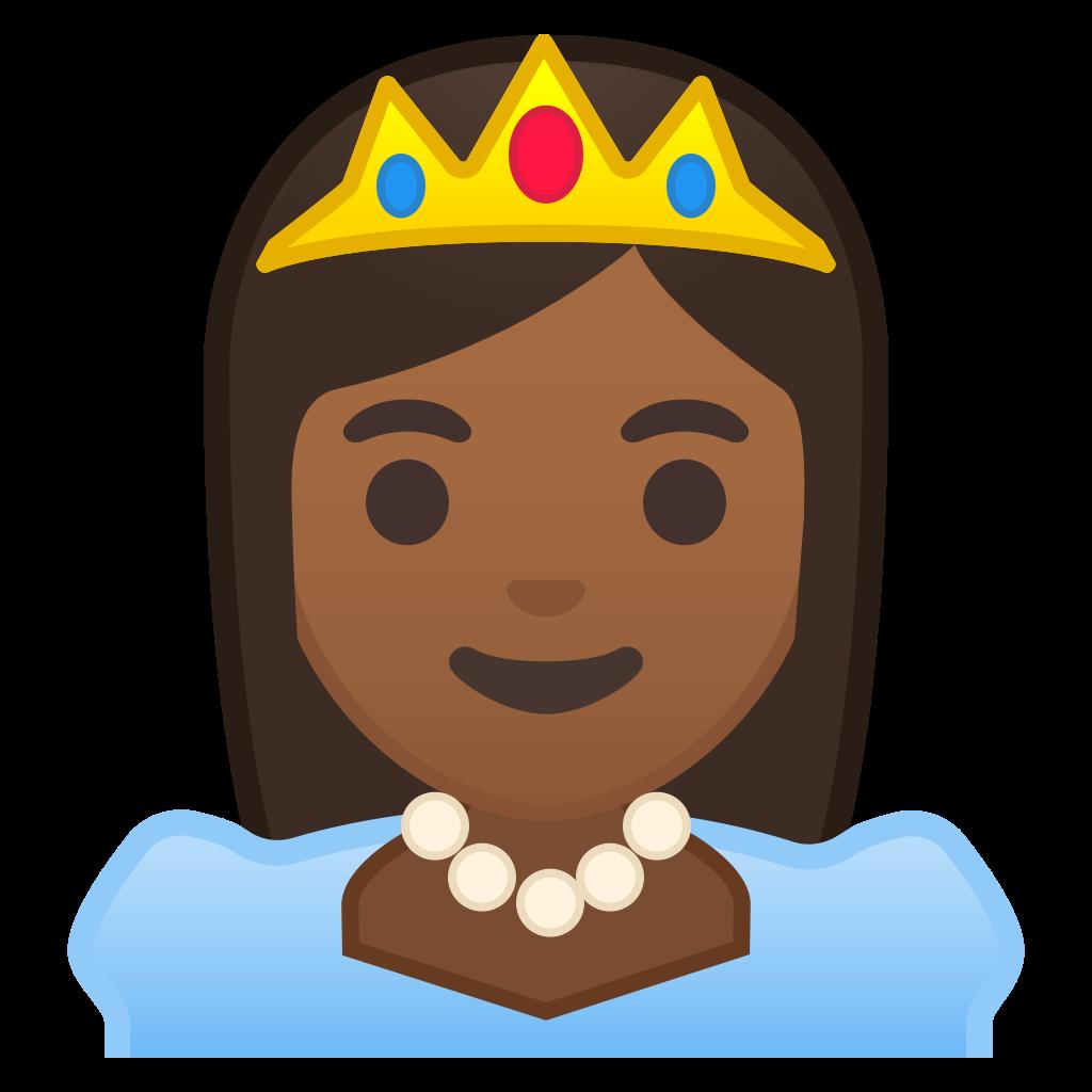 Skin clipart different skin color. Princess medium dark tone