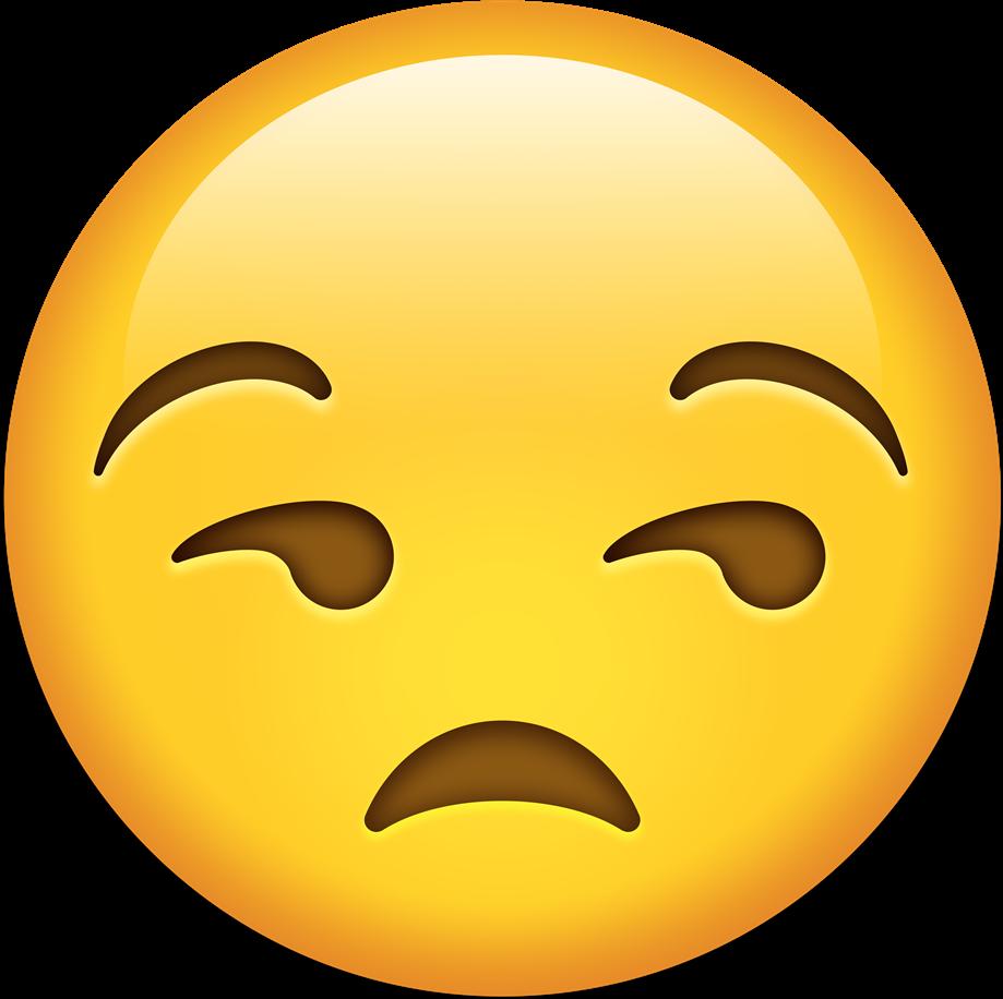 Emoji clipart sadness. Happystickers sad emote