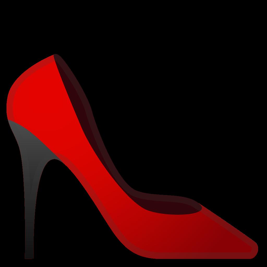 High heeled shoe icon. Heels clipart emoji