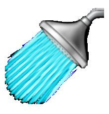 Emoji clipart shower. Ios