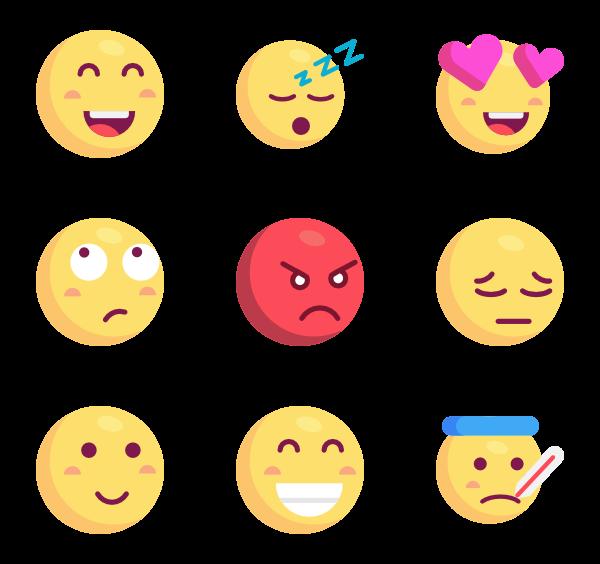 Emoji clipart simple.  icon packs vector