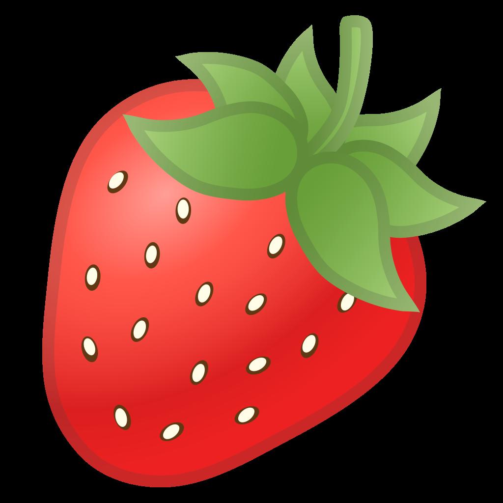 Strawberries clipart object. Strawberry icon noto emoji