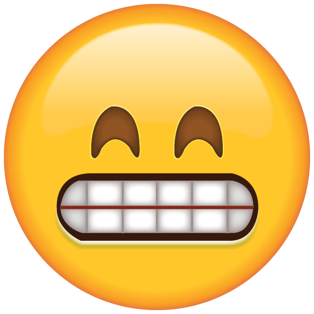 Download grinning with smiling. Emoji clipart suprised
