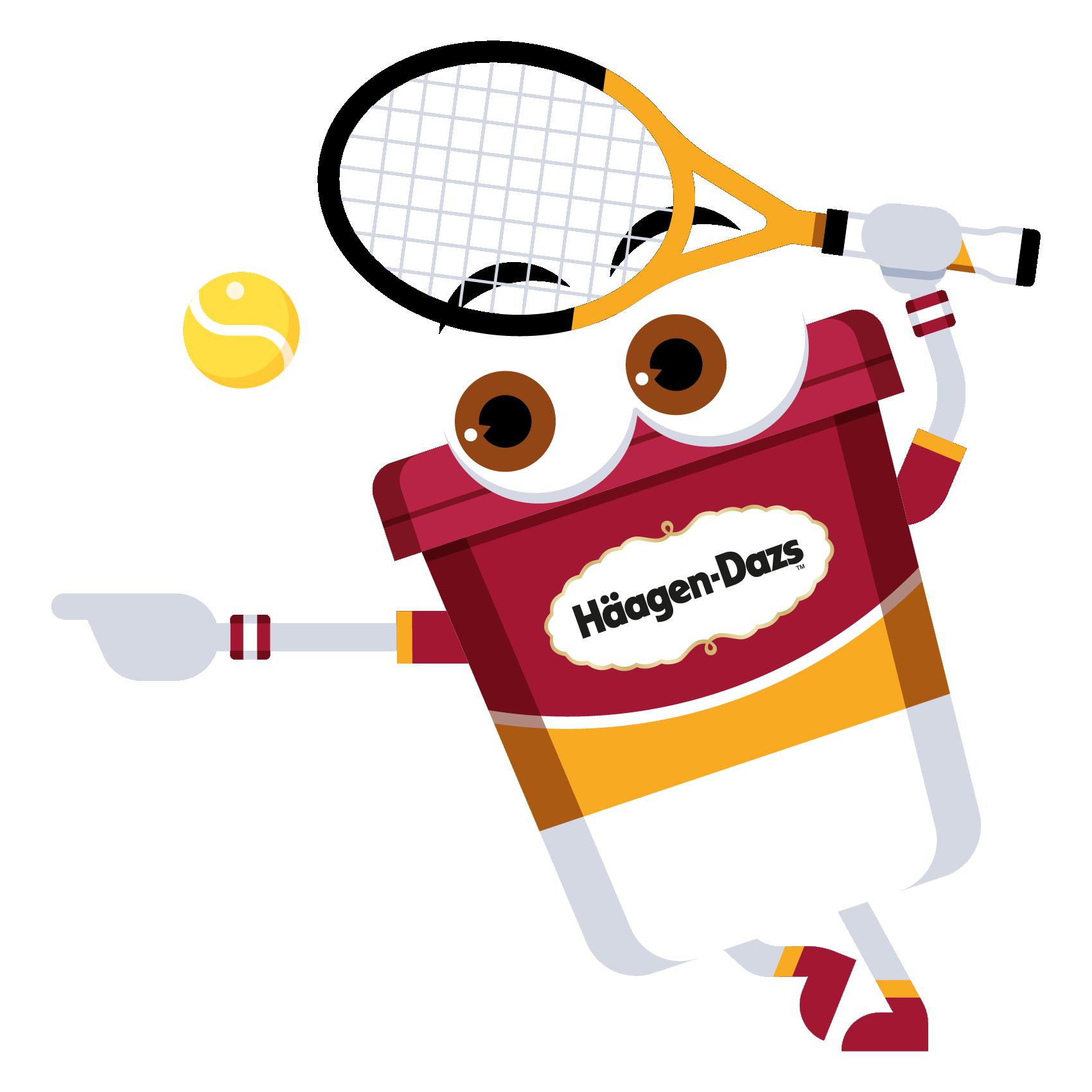 Emoji clipart tennis. H agen dazs france