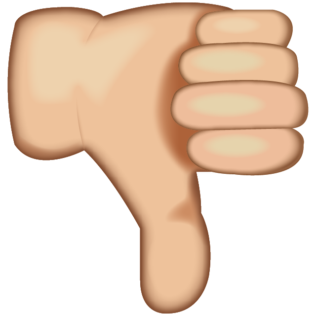 Emoji clipart thumbs up. Download white down sign