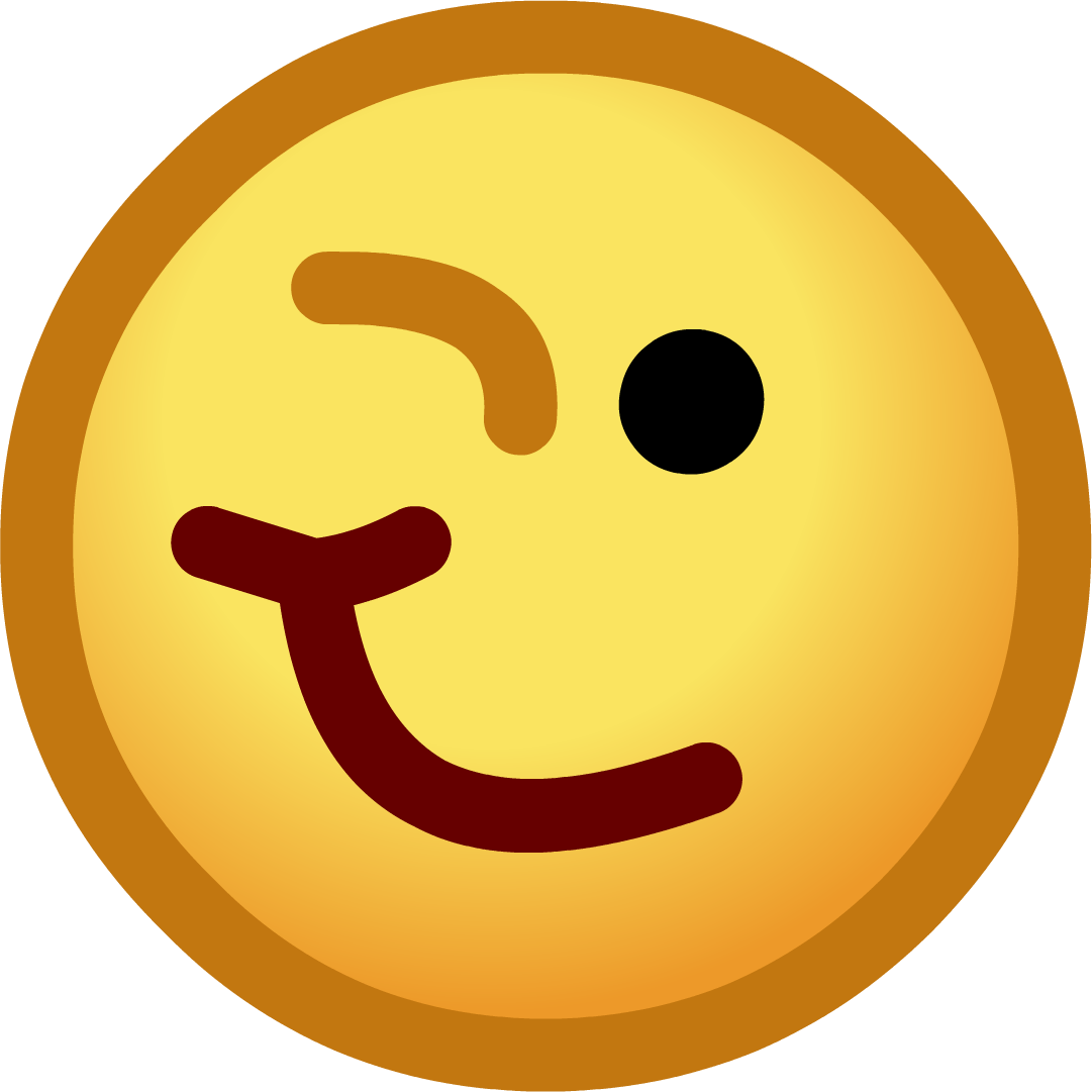 Hurt clipart emoticon. Smiley face wink thumbs