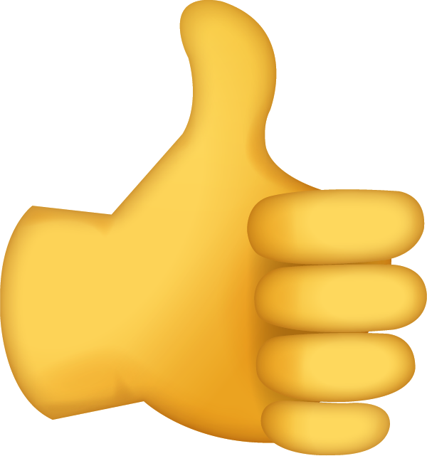 Download sign iphone icon. Emoji clipart thumbs up
