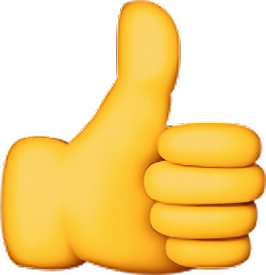 Ok thumbsup good yellow. Thumb clipart emoji