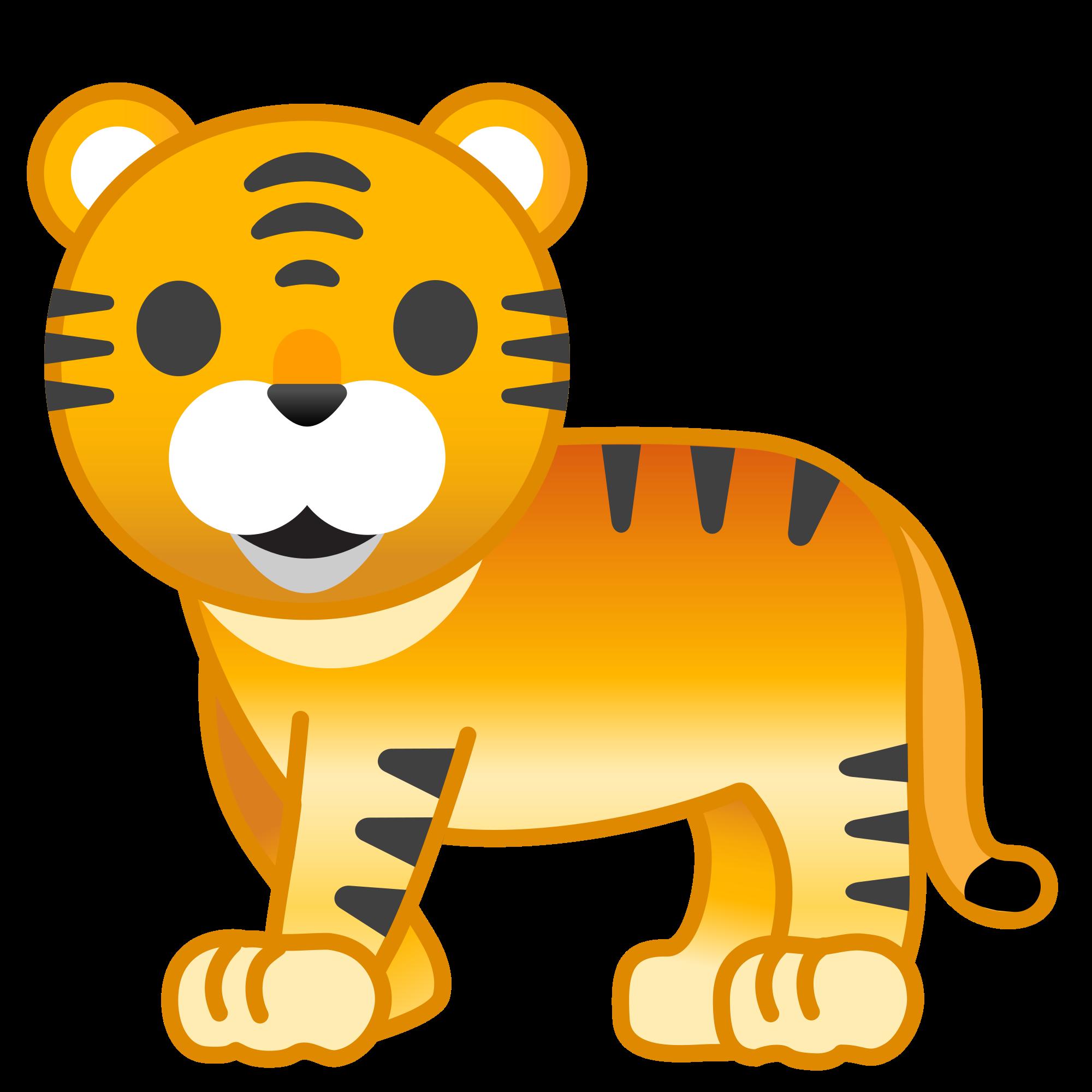 Emoji clipart tiger. File noto oreo f