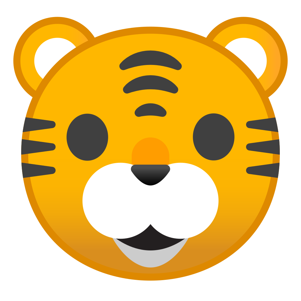 Face icon noto animals. Emoji clipart tiger