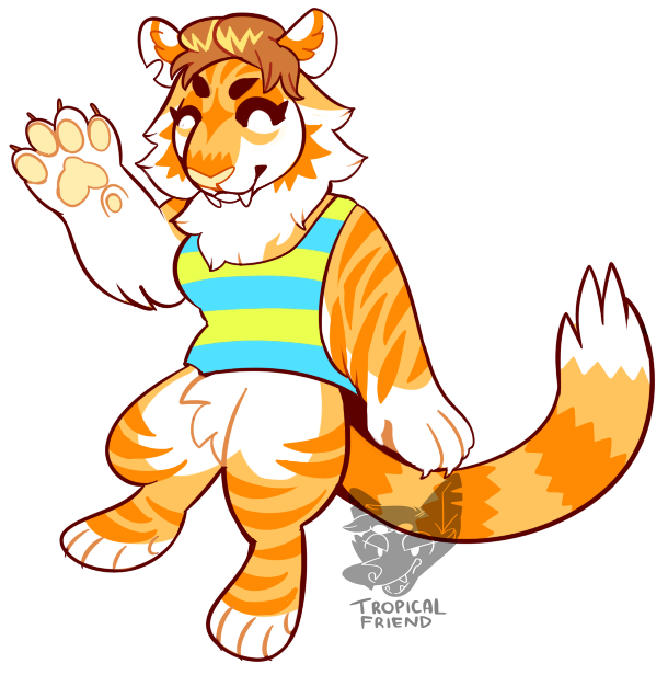 By californiacoyote on deviantart. Emoji clipart tiger