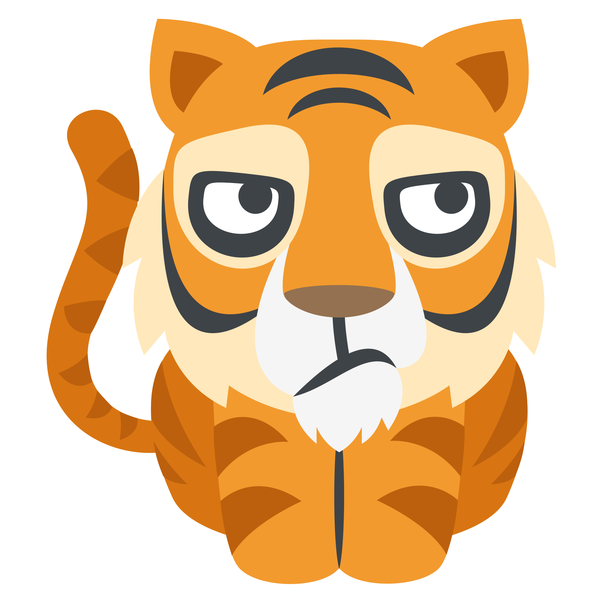 File emojione f svg. Emoji clipart tiger