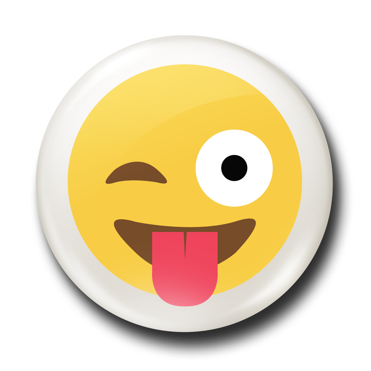 Emoji clipart tongue. Stick out the badge