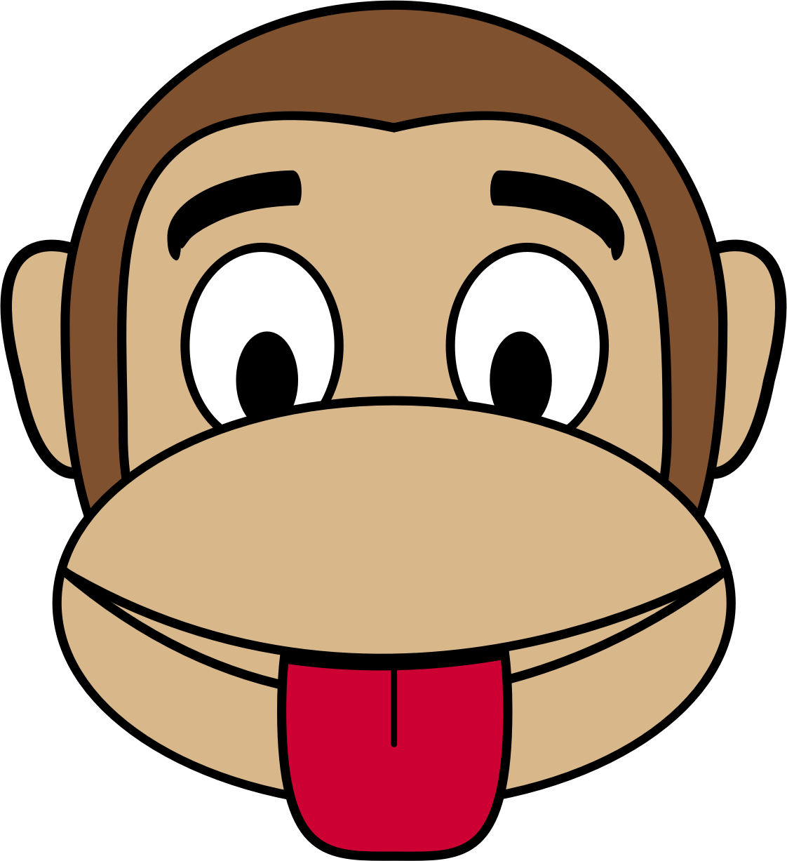 Emoji clipart tongue. Monkey out big image