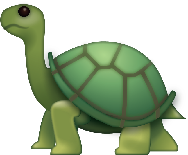 Tired clipart tortoise. Download turtle iphone emoji