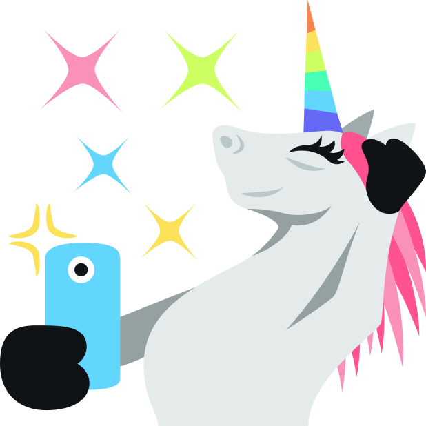 Life inspired stickers by. Emoji clipart unicorn