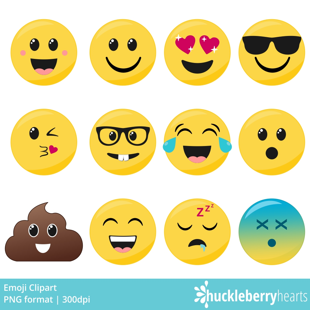 Huckleberry hearts . Emoji clipart
