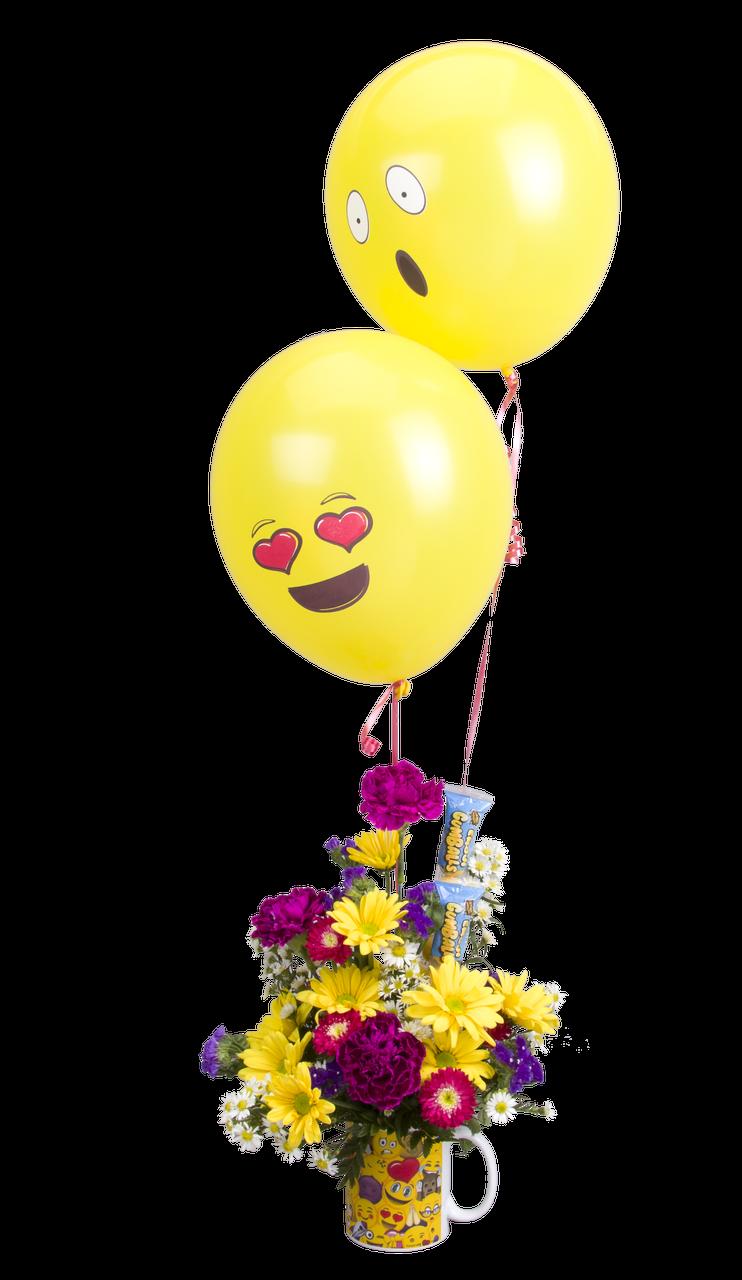 Soderberg s exclusive mug. Emoji flower png