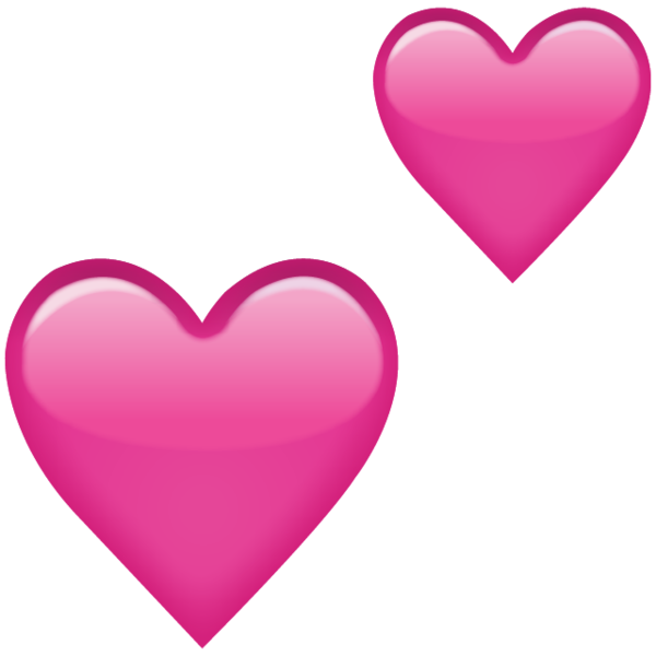 Download two pink icon. Emoji hearts png