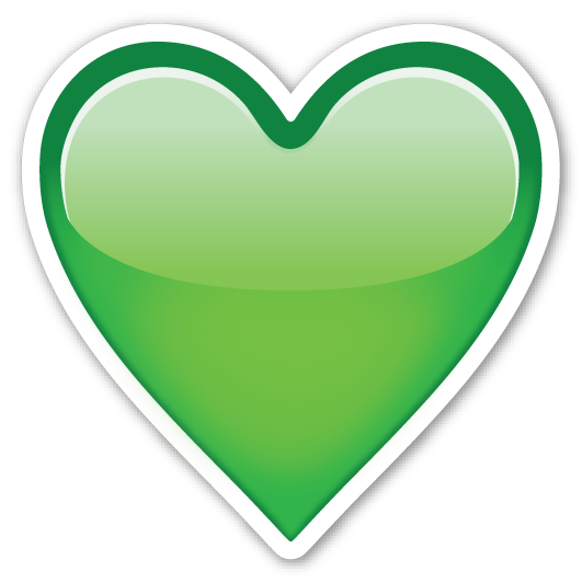 Green heart emojistickers com. Emoji hearts png