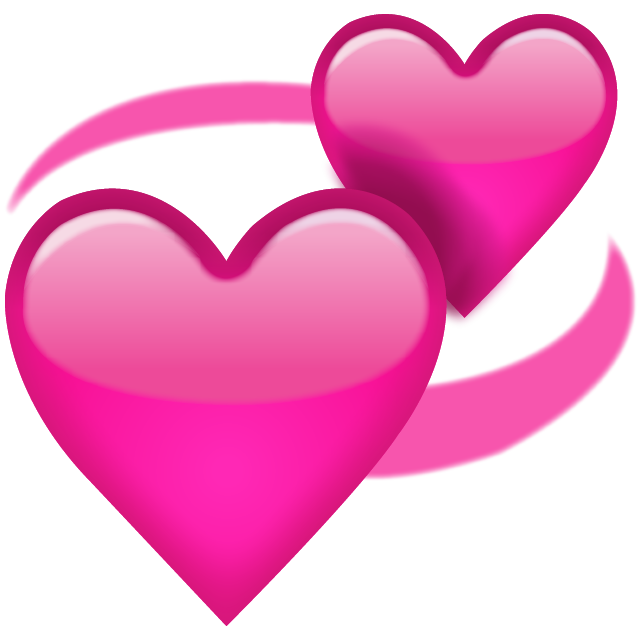 Download revolving pink icon. Emoji hearts png