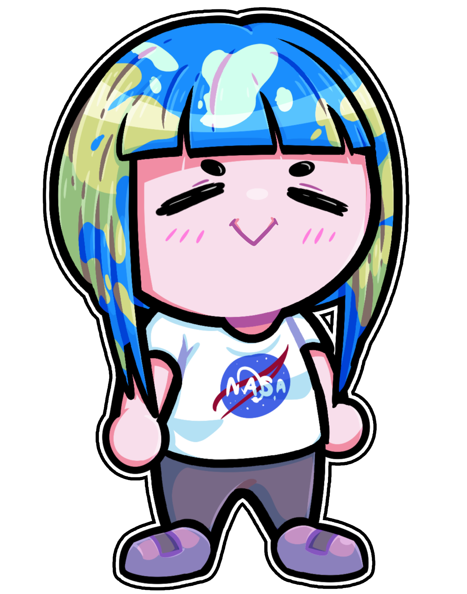 Earth chan chibi know. Emotions clipart 7 human