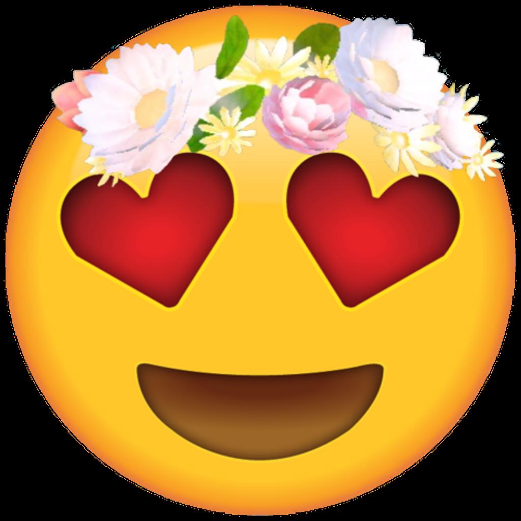 Emotions clipart animal emotion. Emoji flores flower tiara