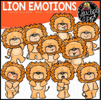 Emotions clipart animal emotion. Lions african clip art