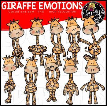 Giraffes african clip art. Emotions clipart animal emotion