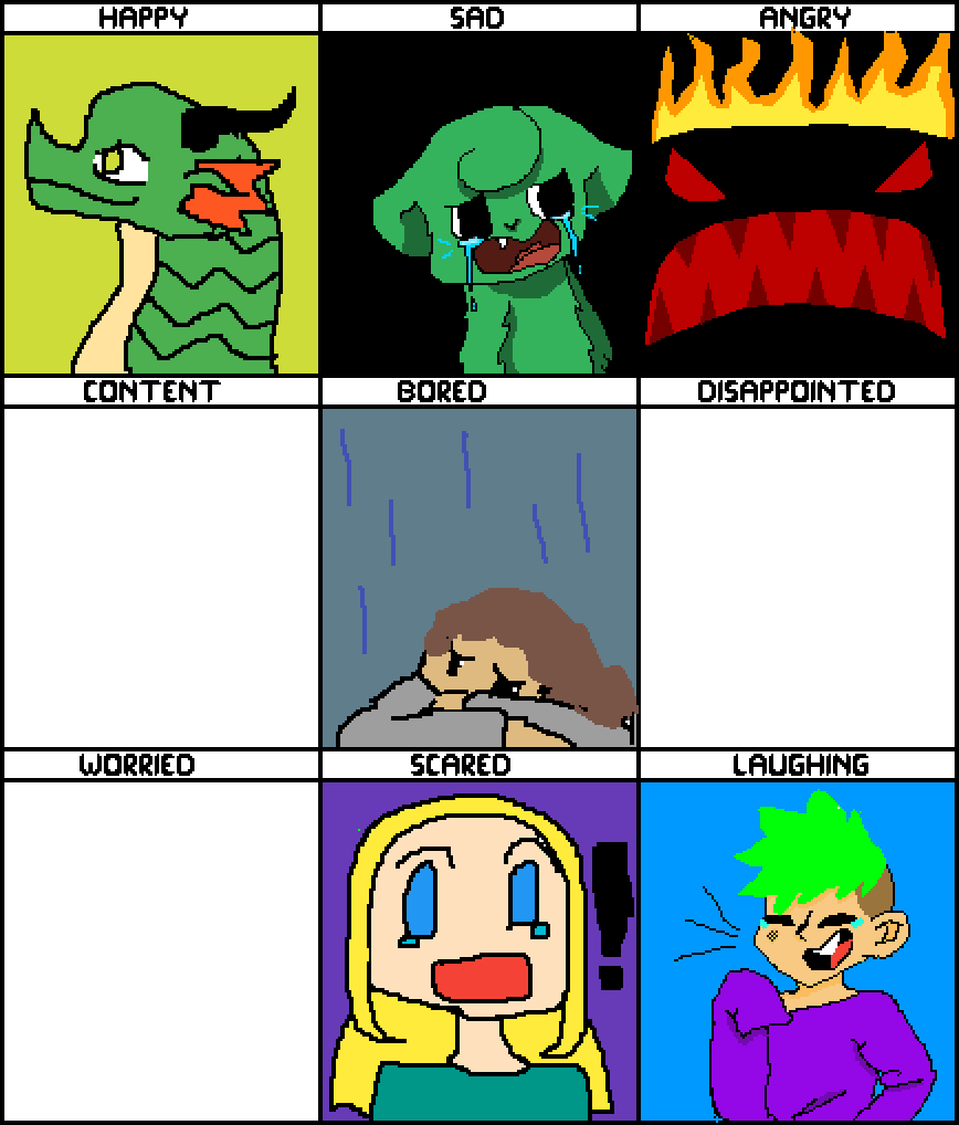 Emotions clipart bored. Pixilart collab by masks