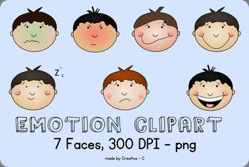Emotion clip art face. Emotions clipart boy