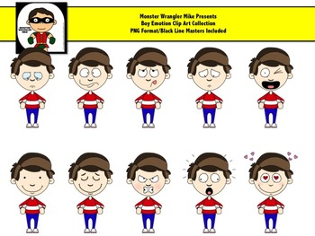 Emotions clipart boy. Version png files for