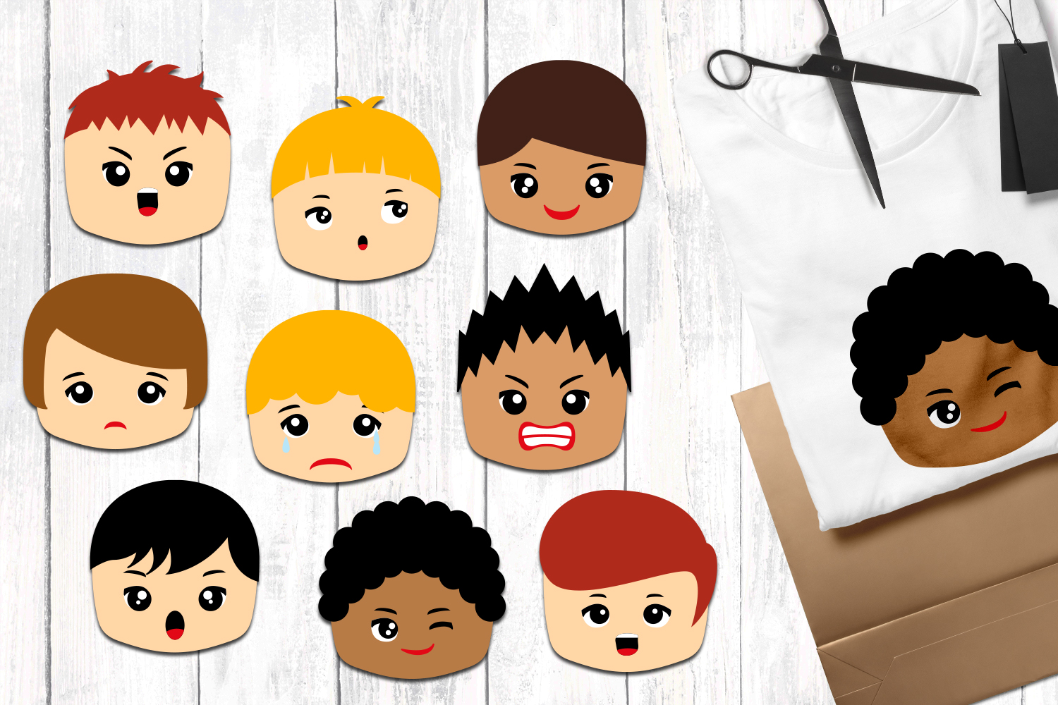 Faces with emotion clip. Emotions clipart boy