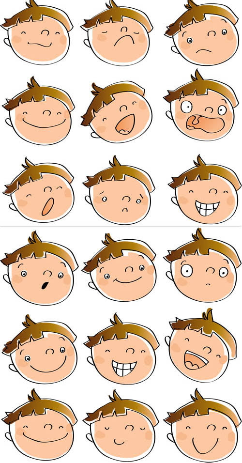 Emotions clipart cartoon face. Free pictures of download