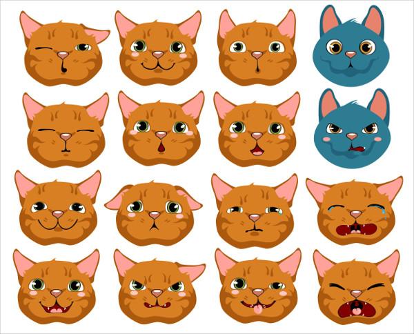 Emotions clipart cat.  best emojis free