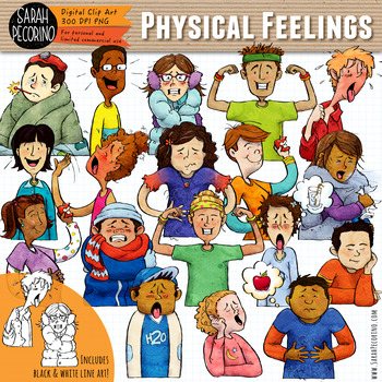 Physical feelings clip art. Emotions clipart character feeling