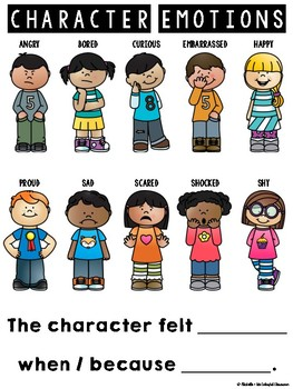 Emotions clipart character feeling. Resources graphic organizers