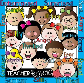 Feelings clipart teacher. Emotions kids
