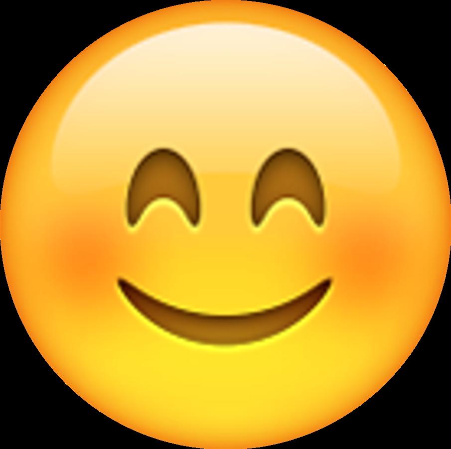 Emotions clipart emoji. Shy smile love sticker