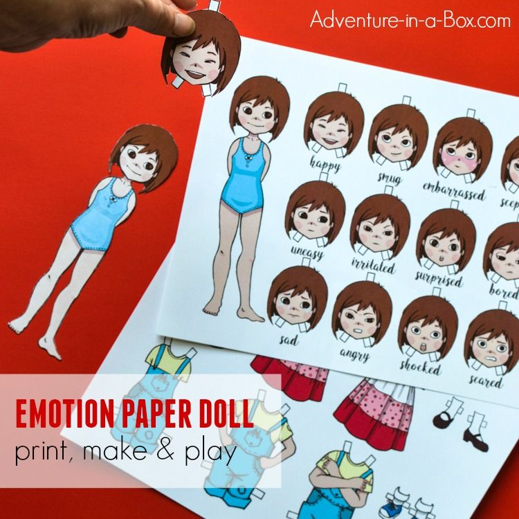 Emotions clipart emotional change. Emotion paper dolls for