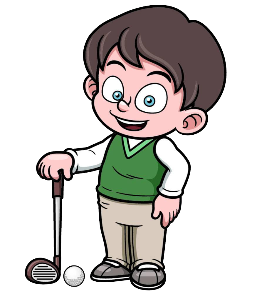 Golfer cartoon clip art. Emotions clipart emotional person