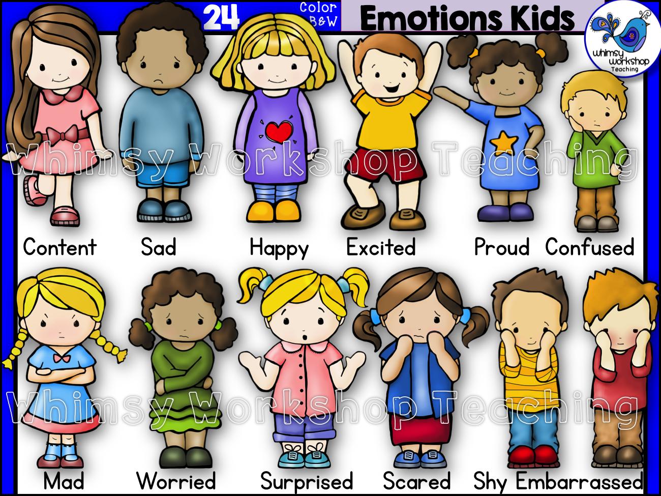 Proud clipart different emotion. Emotions kids clip art