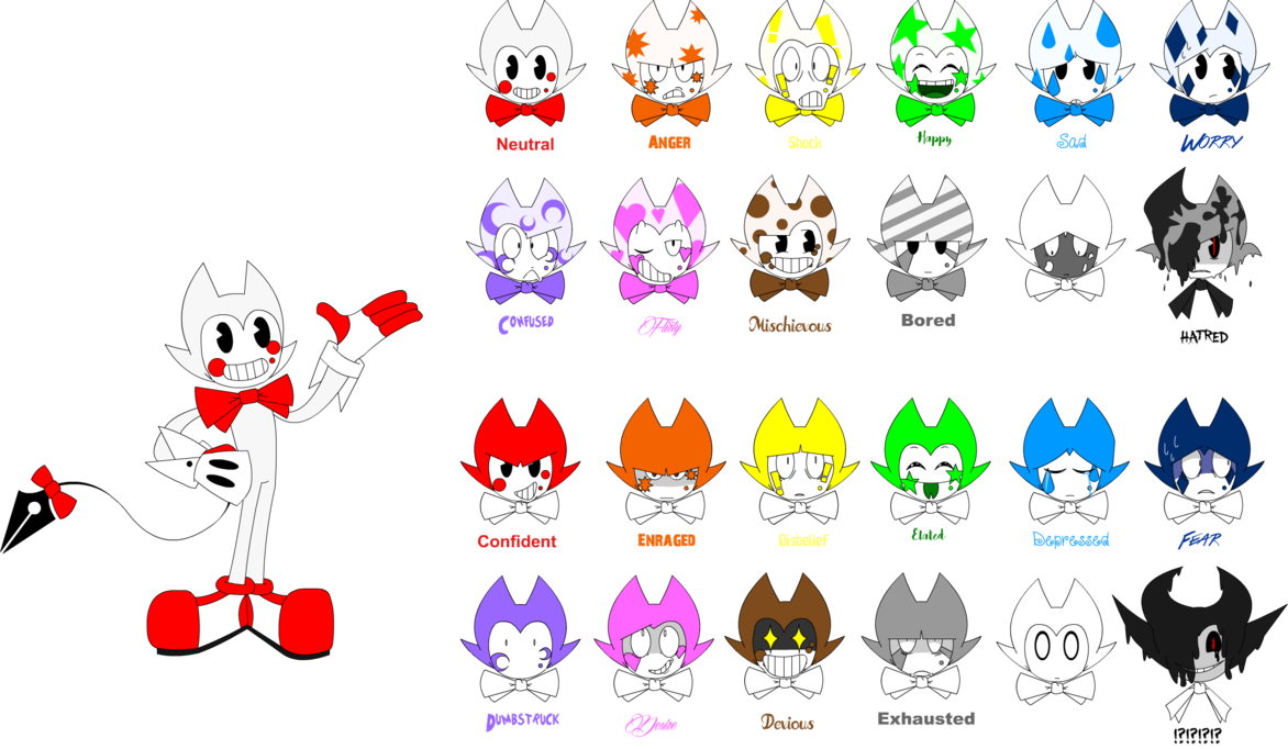 Emotions clipart exhausted. Color bendy s guide