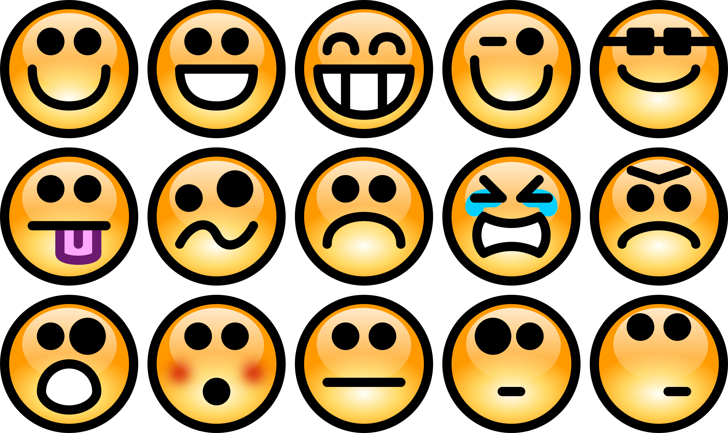 Collection of free felling. Emotions clipart face action