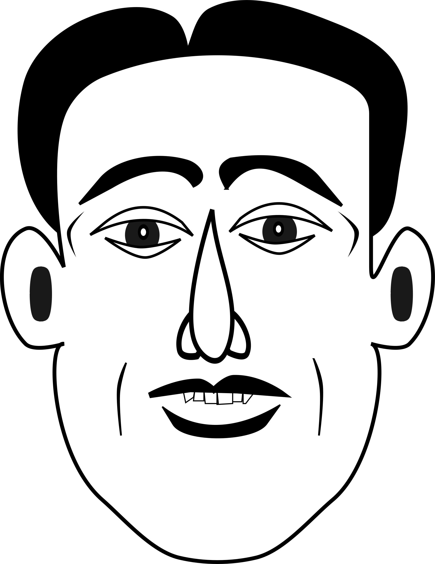 Emotions clipart face drawing. Happy emotion big image