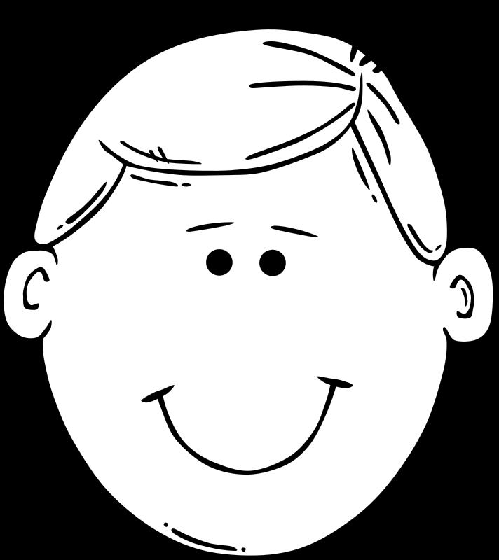 Man cartoon medium image. Emotions clipart face drawing