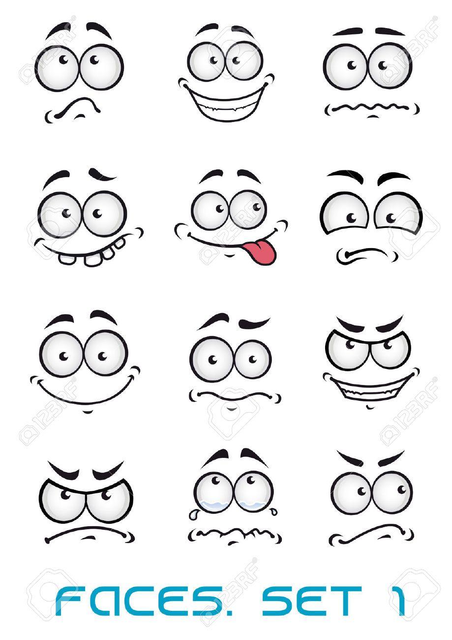 Emotions clipart face drawing. Stock vector debbie cartoon
