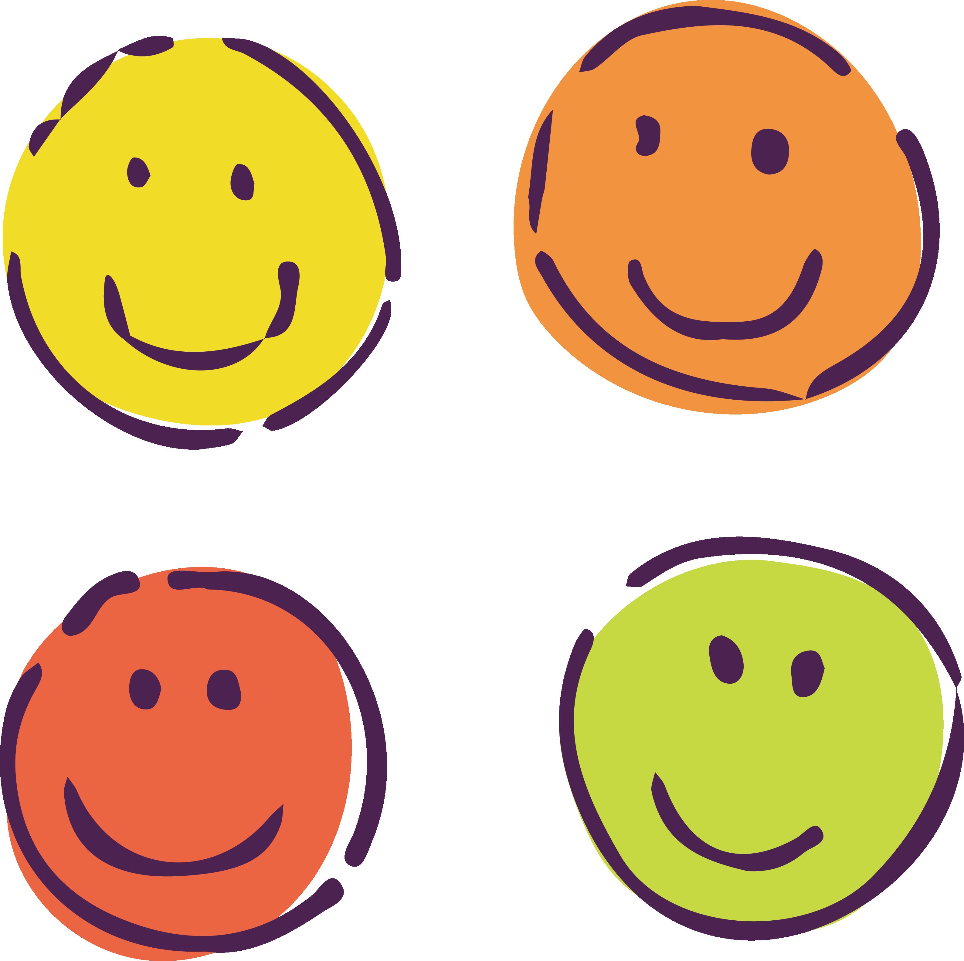 Emotions clipart four basic. Smiley cartoon clip art
