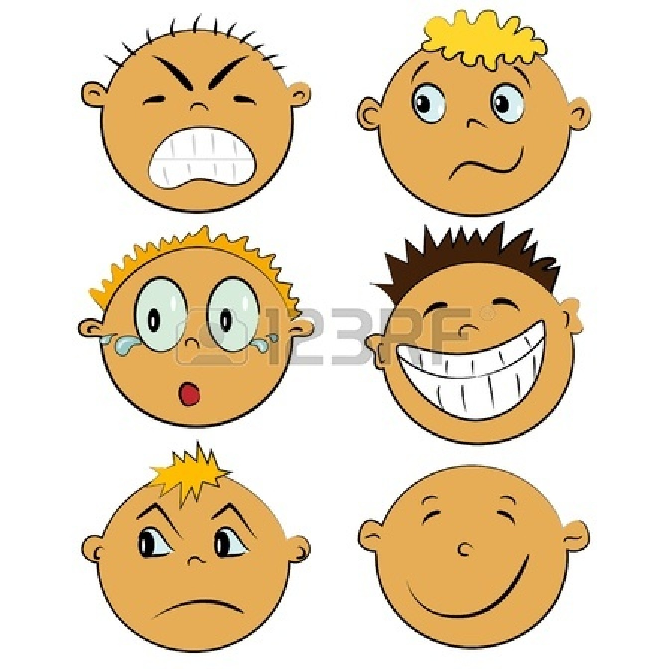 Feelings clip art free. Emotions clipart happy group