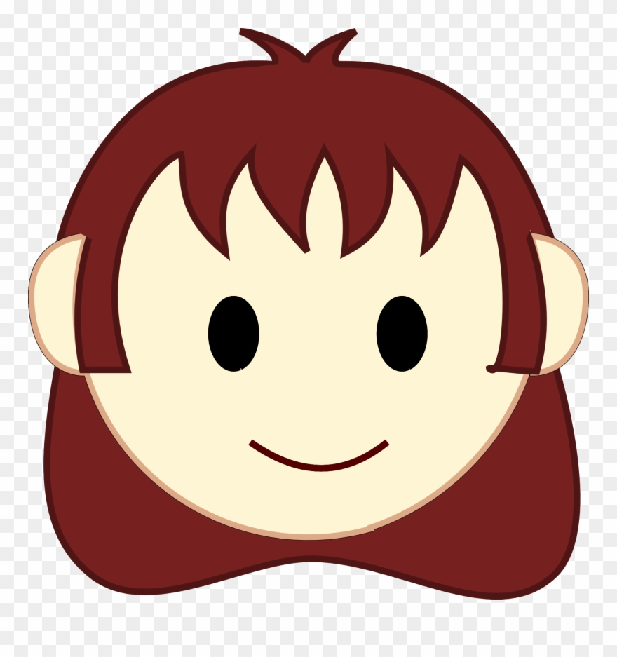 Emotions clipart happy group. Girl smiling face clip